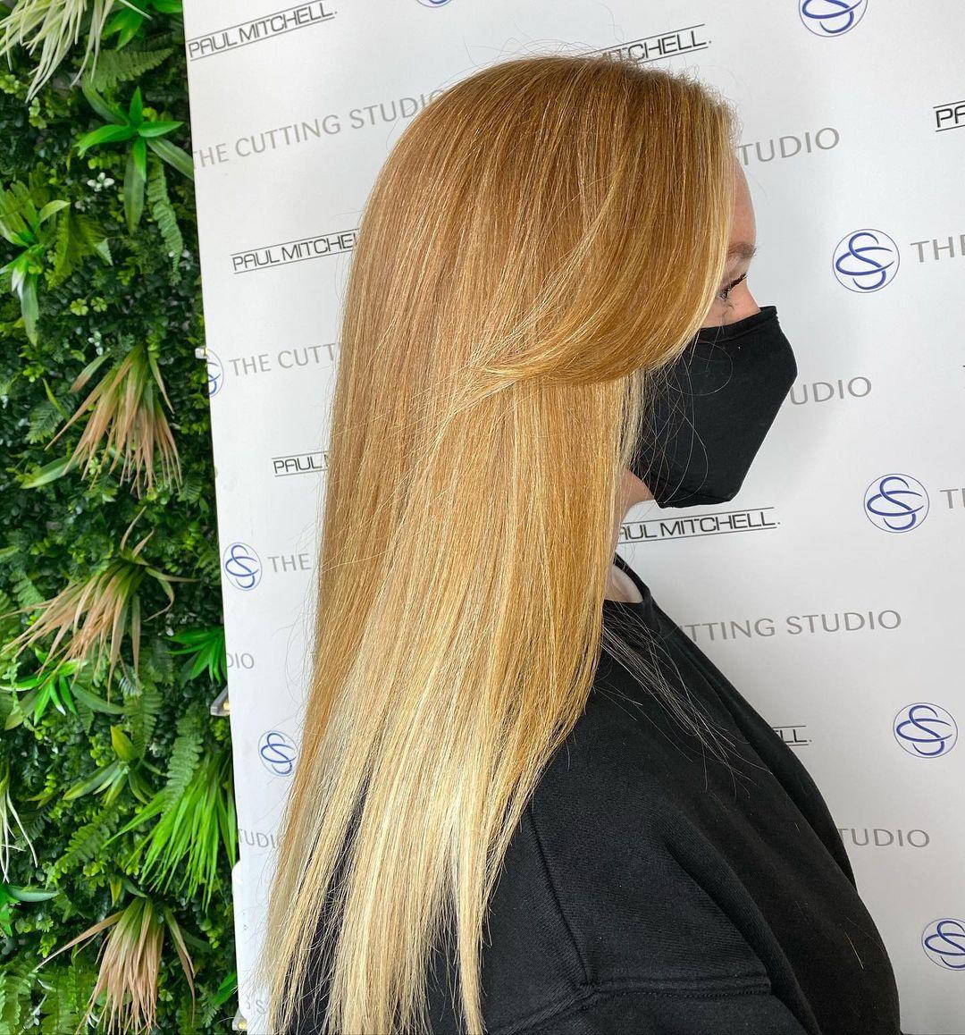 blunt cut fringes at top Hazelmere salon