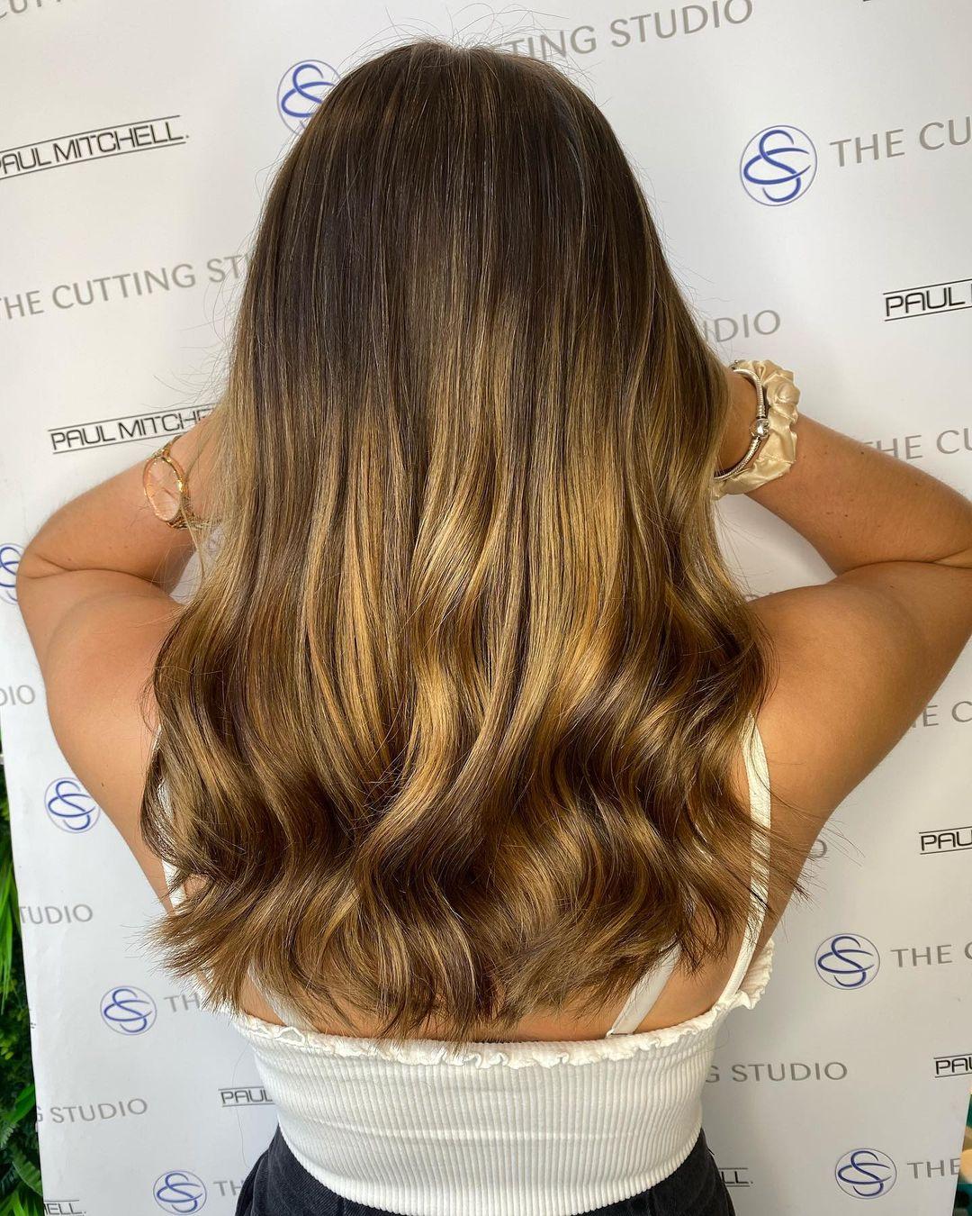 beautiful balayage hair colours at the Cutting Studion hair salon, Buckinghamshire