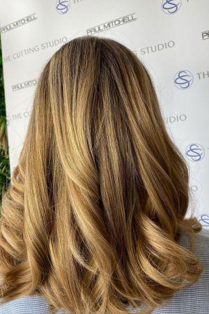 hair colour correction at the cutting studio hair salon, Hazelmere