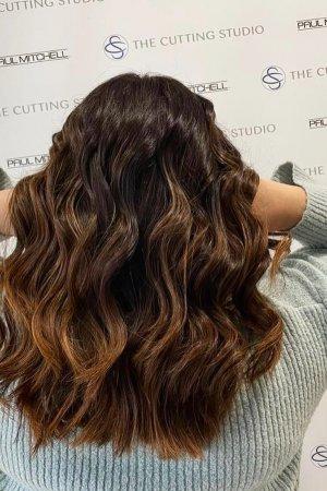 beautiful brunette hair colour, Hazelmere