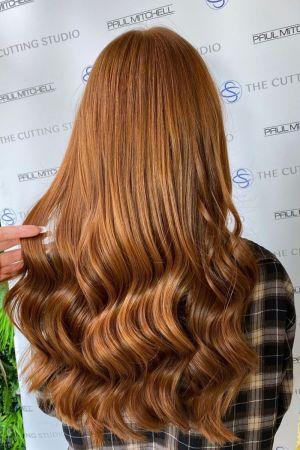 wavey long hairstyles at Cutting Studio hair salon, Hazelmere